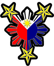 2X PHILIPPINES STARS AND SUN DECAL blue on right side  Size apr 50 mm by 42 mm