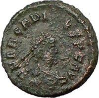 ARCADIUS 383AD Genuine Ancient Roman Coin VICTORY Nike Angel  i18824