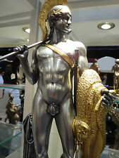 Nude Male statue sculpture Pewter & Gold - Jason with the Golden fleece - NEW