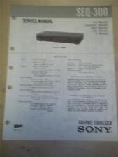 Sony Service Manual~SEQ-300 Graphic Equalizer~Original~Repair