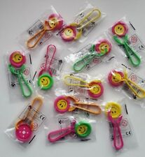 12 X Party Bag Fillers SMILEY SPINNERS Wedding/Kids/piñata/Toy/birthday