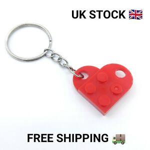 Custom Lego Red Love Heart Keyring Valentines Gift Idea Lego Brick