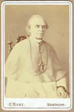 1880s albumen Cabinet Card photograph of Friedrich Fiala, Bishop of Basel.