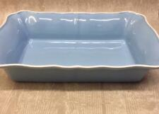 M&S Large Blue Lasagne Serving Dish Scalloped Oven Casserole Baking Tray Cooking