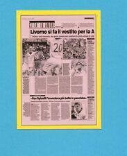 PANINI CALCIATORI 2009-2010-Figurina n.716-LIVORNO-PAGINA GAZZETTA-NEW