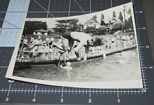 MID AIR Dive IN AIR 1941 Swimmer Swimsuit Man Vintage Gay Snapshot PHOTO 2