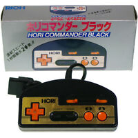 Famicom Controller Pad HORI COMMANDER Black HJ-10 Japan Import Working Boxed !!