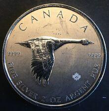 """Canada - Silver 10 Dollar Coin - 2 Oz. - """"Canada Goose"""" - 2020 - UNC"""