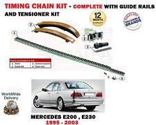 für Mercedes E200 E230 E200T E230T 1995-2003 NEU Steuerkette Spannrolle Set