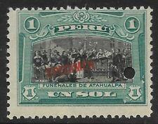 STAMPS-PERU. 1918. 1 Peso. ABN Co Specimen. SG: 415 var. Mint Never Hinged