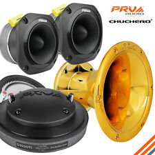 PRV Chuchero Kit D3220Ti Driver WGP14-50 CR Gold Chrome Horn 2x TW700Ti Tweeters