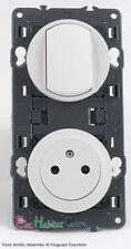 Permutator+enchufe toma de corriente 2P+T 16A sobresaliente blanco 67006+67131+