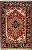 """4'0"""" x 6'0"""" Vintage Hand-Knotted Traditional Oriental Wool Area Rug"""