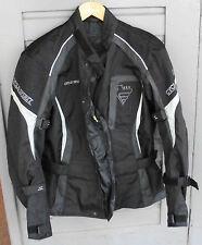 Motorrad Jacke Cycle Spirit  grau schwarz Gr. XL (1)