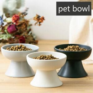 Neck Protect Pet Bowl Dog Cat Ceramic Dish Rack Puppy Food Water Feeder