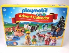 PLAYMOBIL 1.2.3 Advent Calendar Santa Christmas on the Farm New 28 Pc 18 Months+