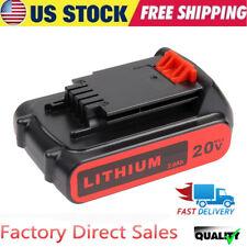20 Volt 2000mAh LB20 Lithium Ion Battery For Black & Decker LBX20 LBXR20 LDX220