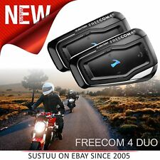 Cardo Scala Freecom 4 Duo│4Way Bike-Bike/Motorcycle Bluetooth 2 Headset/Intercom