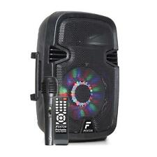 "Fenton FT8LED Altavoz activo 8"" 300W Bluetooth/USB/SD/AUX LED Batería de 2,2 Ah"