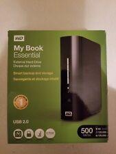 WD MY BOOK ESSENTIAL EXTERNAL HARD DRIVE 500 GB USB 2.0