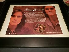Rowan Brothers Rare Original Columbia Records Promo Poster Ad Framed!