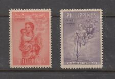 Philippine Stamps 1950 Aid to War Victims (Veterans) Complete set MNH, Toned gum
