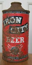 New listing Iron City Low Profile Cone Top Beer Can, Pittsburgh, Pa, 12 oz, Irtp