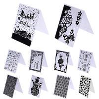 Plastik Prägepapier Schablone DIY Scrapbooking Papier Karten Dekor