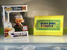 Funko Pop Disney #312 Scrooge McDuck In Gold NYCC Ex Ducktales w/ Pop Protector