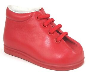 DE OSU - Baby Boys Girls Red Leather 1st Walker Boots - Shoes European Size 2-6