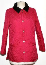 BARBOUR CHILDRENS LIDDESDALE NEW QUILTED JACKET SIZE L  PINK