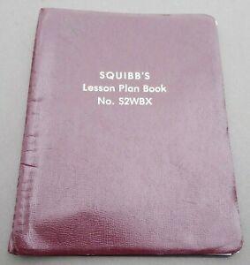 SQUIBB'S LESSON PLAN BOOK VINTAGE TEACHER