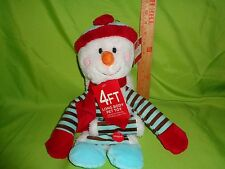 Large 4 Foot Long Snowman Plush Christmas Puppy Dog Toy Animal Crinkle Belly New