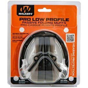 Walker's Game Ear GWPFPM1FDE Low Pro Dark Earth Muff Folding Passive Earmuffs