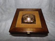 Vtg Lara'S Theme Wooden Brass Sailing Ship Jewelry Music Box Somewhere My Love