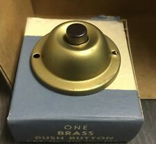 New Old Stock 1960 Round Brass Dome Style  Rodale Door Bell Push Button