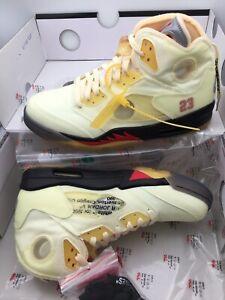Nike Jordan 5 V Retro OFF WHITE Sail Fire Red DH8565-100 Size 11