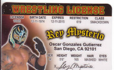 Rey Mysterio novelty collectors card Drivers License wwf wwe wcw