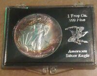 1989 American Eagle Silver Liberty Dollar $1 Naturally Toned Ring