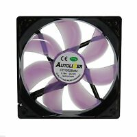 Cooler Master 120mm LED Neon PURPLE Computer PC Case Cooling Fan Sleeve Bearing