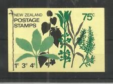 NEW ZEALAND 1973 75c BOOKLET NO WATERMARK (W10b2) SG,SB28 U/MM NH LOT 9691A