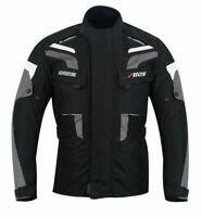 Motorradjacke mit Protektoren Herren Textil Motorrad Jacke Roller Jacke Grau