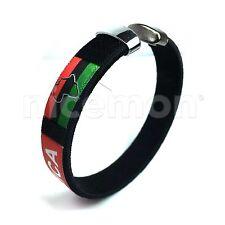 Afro Flag Reggae Bracelet Wrist Bracelet Cuff Jah Reggae Garvey One Love IRIE