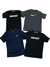 Lot Of 4 Nike & Marucci Dri-fit Boys large Men's Small