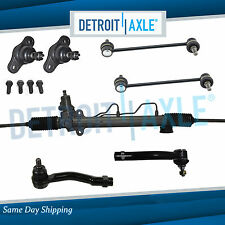 7pc Complete Power Steering Rack and Pinion Suspension Kit for Kia Sportage 2WD