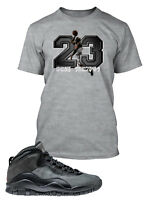 Tee Shirt to Match Air Jordan 10 Dark Shadows Shoe Mens Pro Club Big Tall Small