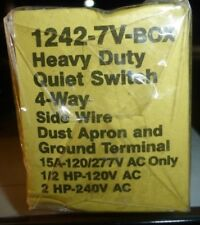 NIB Eagle 1242-7V-Box 4-Way Heavy Duty Quiet Switch, 15 A, 120-277 V  FREE SHIP
