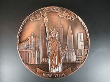 New York Metal Plate Wtc Freedom Tower, of Liberty, Empire, Chrysler, 20 CM