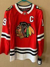 JONATHAN TOEWS #19 NWT Chicago Blackhawks NHL Adidas Authentic Jersey 50 Medium