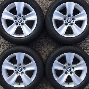 "Set Genuine BMW 5 6 Series 17"" Alloy Wheels 225 55 Winter Snow Tyres F10 F11 F12"